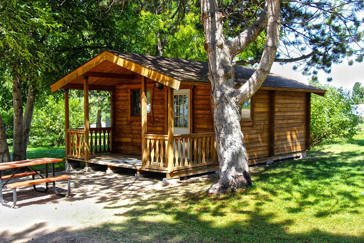 Stay in one of our six cabins